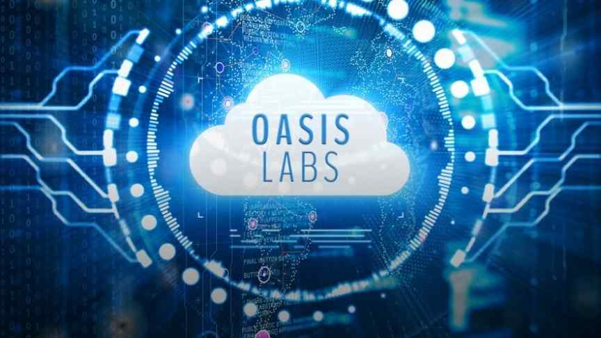 Oasis Labs logo and name inside blue circle