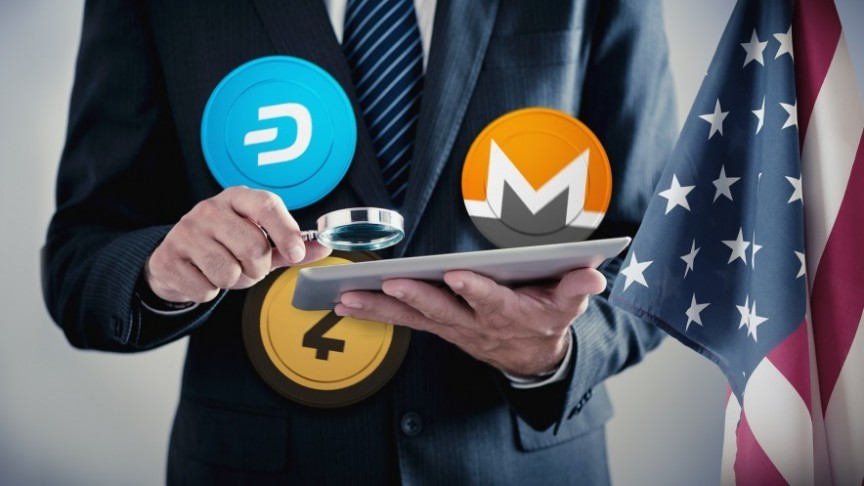 Privacy coins Monero, ZCash, Dash