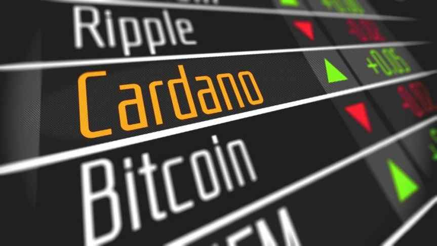 Cardano listed between Ripple and Bitcoin