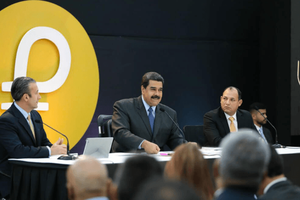President of Venezuela Nicolás Maduro at a Petro conference
