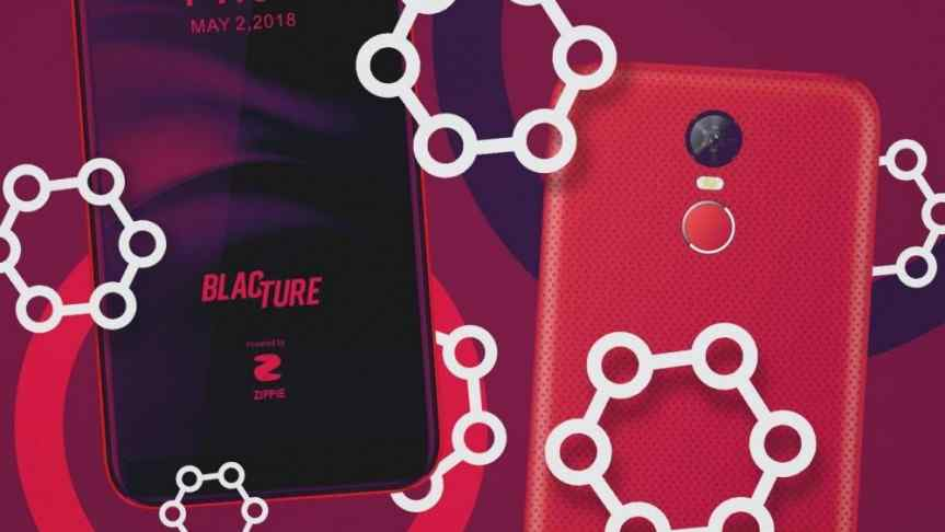 Front and back picture of Motif, a blockchain-based smartphone by BlacTure