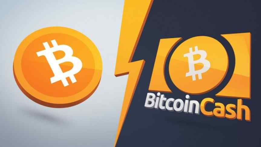 Image of the very similar Bitcoin and BCH logos