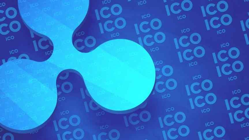 3D Ripple Logo with the word 'ICO' repeating in the background