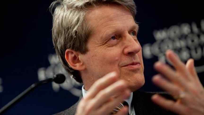 Closeup image of Robert Shiller, a Nobel Prize winning economist