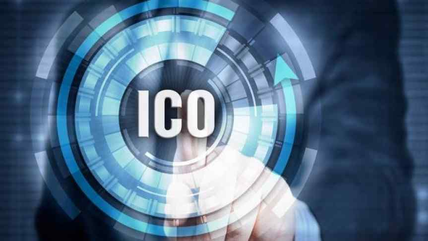 Man pointing to the word ICO