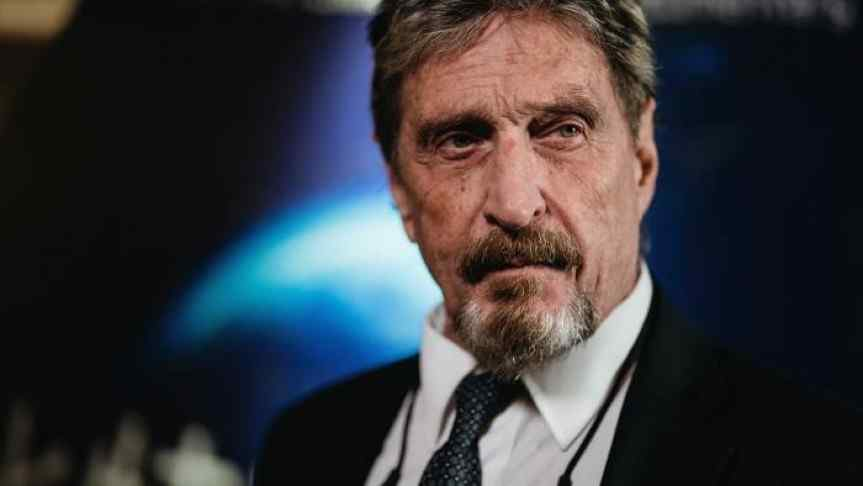 Closeup image of John McAfee