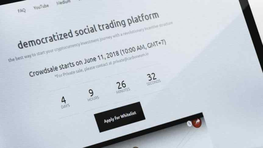 Announcement of a democratized social trading platform crowdsale