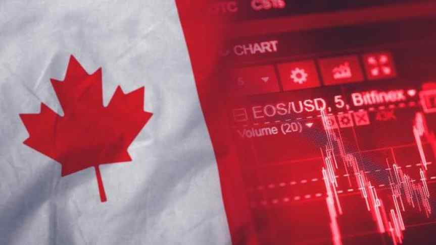 Illustration of Canadian Flag and a EOS chart
