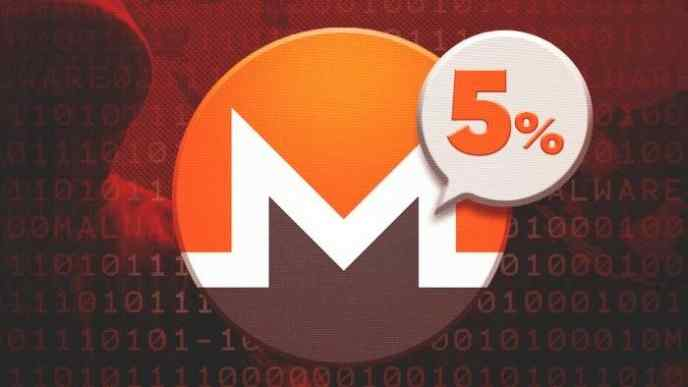 5% of Monero is from Hacking
