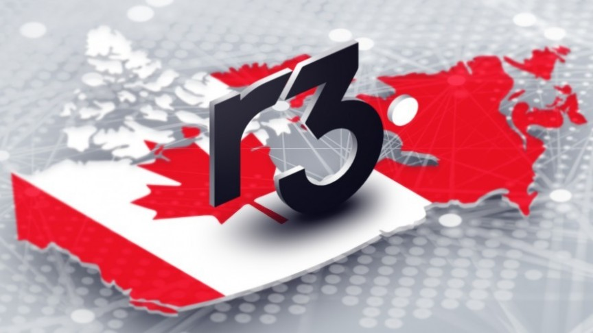 R3 Consortium on a Canadian flag
