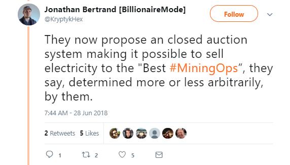 Jonathan Bertrand's Tweet