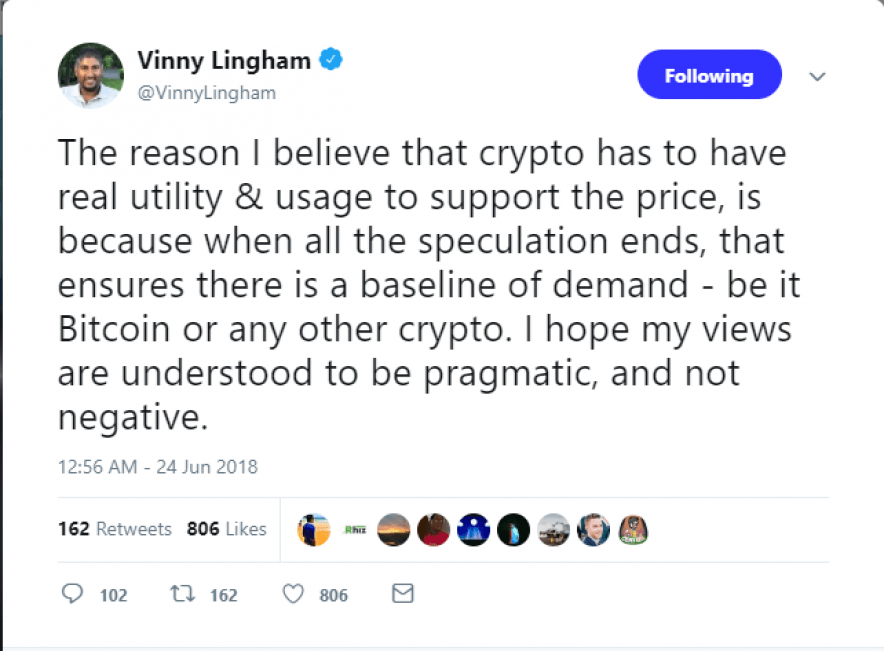 Vinny Lingham tweet part 1